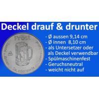 """Bierdeckel Untersetzer """"Drauf & Drunter"""""""